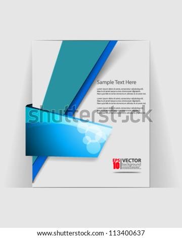 eps10 abstract vector brochure design - stock vector