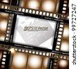 eps10 abstract vector cinematography concept design - stock vector