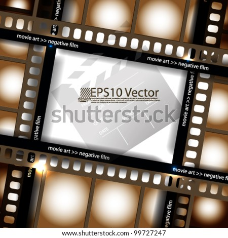 eps10 abstract vector cinematography concept design - stock vector