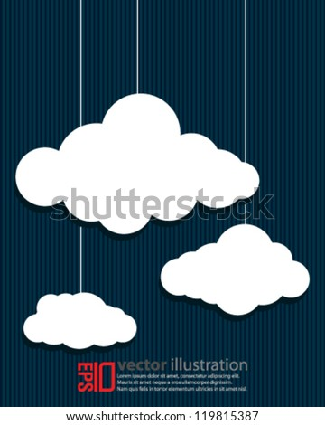 eps10 abstract vector design - cloud concept background - stock vector