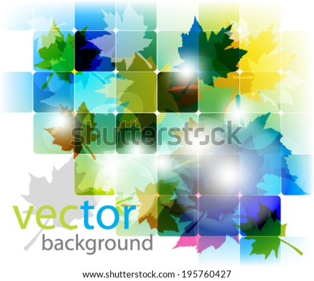 eps10 abstract vector design - multicolored maple leaf design - stock vector