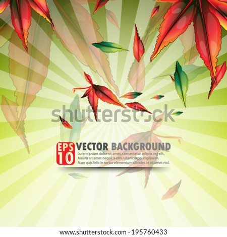 eps10 abstract vector design - multicolored maple leaf design concept - stock vector