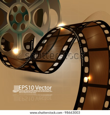 eps10 abstract vector film reel concept design - stock vector