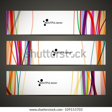 eps10, banner with abstract pattern - stock vector