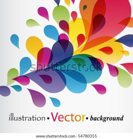 Eps10 Colorful splash - stock vector