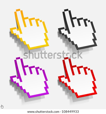 eps10, cursor in the form of stickers - stock vector