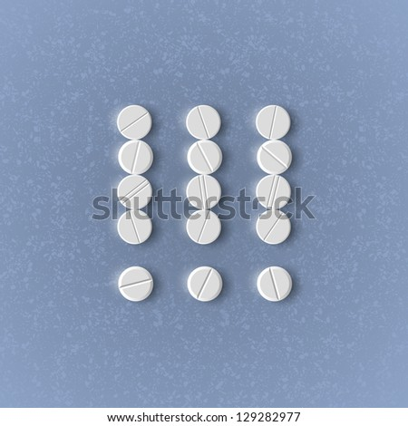 eps, exclamation mark of the pills - stock vector
