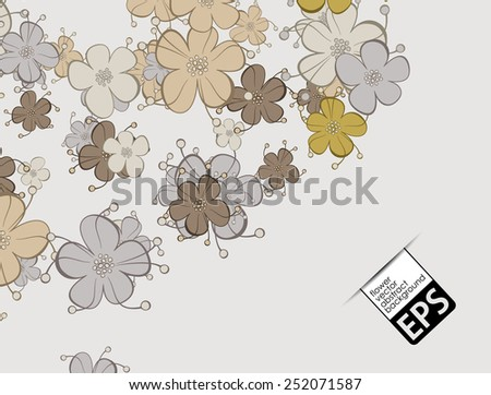 eps, floral background - stock vector