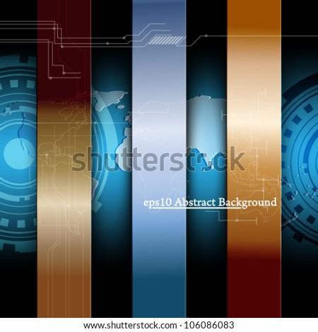 eps10 futuristic business background concept design - stock vector