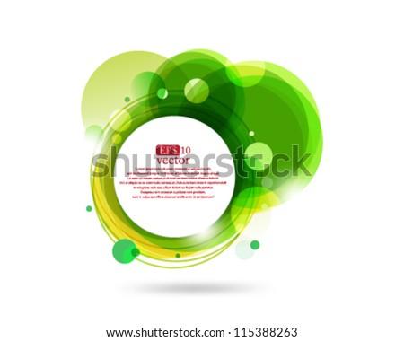 Eps10 Green Icon Concept Design - stock vector
