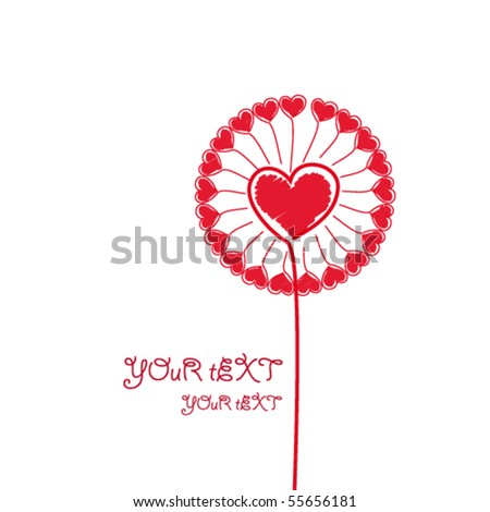 Eps Love Flower. - stock vector