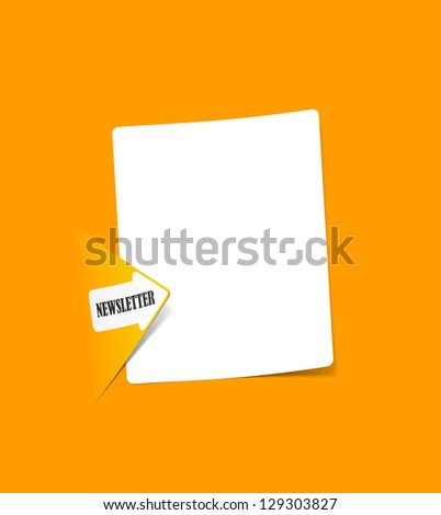 eps10, newsletter, realistic design elements - stock vector