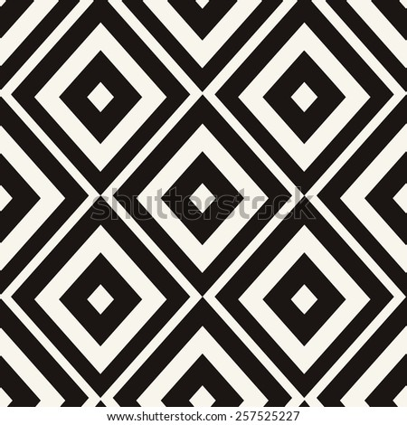 Eps 8 seamless pattern. Ethnic tribal zig zag and rhombus seamless pattern. Vector illustration for beauty fashion design. Black white colors. Vintage stripe style. - stock vector