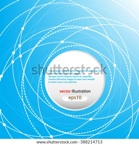eps10 vector Abstract background. scientific communication in motion concept design - stock vector