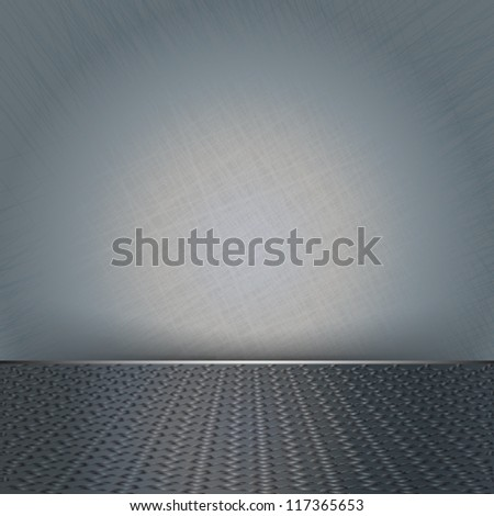 eps10 vector abstract blank space metal stage concept background - stock vector