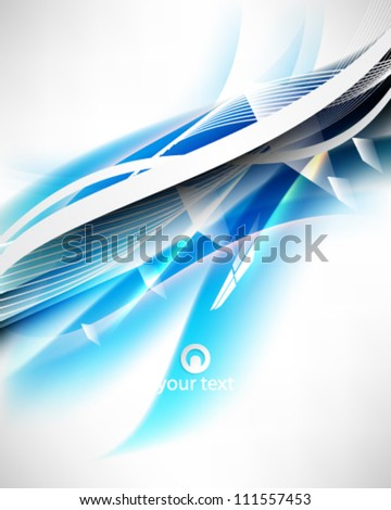 eps10 vector abstract blue wave line elements design - stock vector