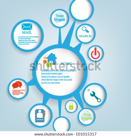 eps10 vector abstract bubble web design. - stock vector