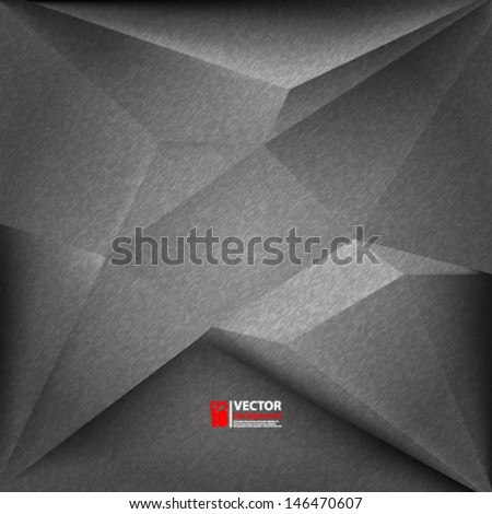 eps10 vector abstract 3D geometric background - stock vector