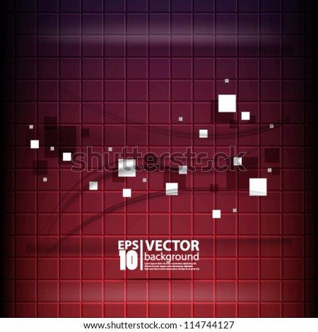 eps10 vector abstract 3D squares background - stock vector