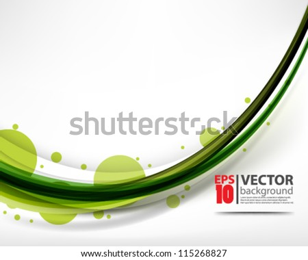 eps10 vector abstract elegant clean wave design - stock vector