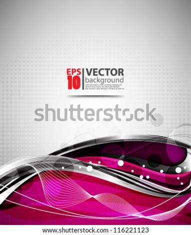 eps10 vector abstract elegant wave design - stock vector