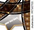 eps10 vector abstract film strip background design - stock vector