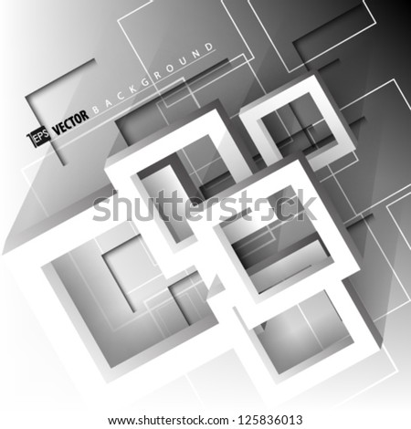 Eps10 Vector Abstract  Futuristic Geometrical  concept illustration - stock vector