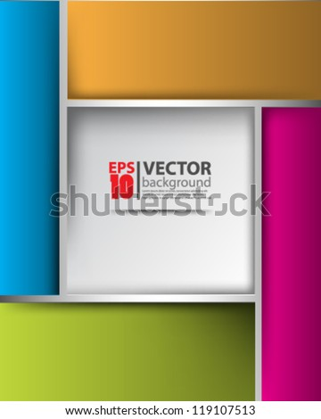 eps10 vector abstract geometric background design - stock vector