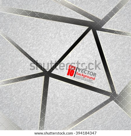 eps10 vector abstract geometric composition fiber metallic texture background - stock vector