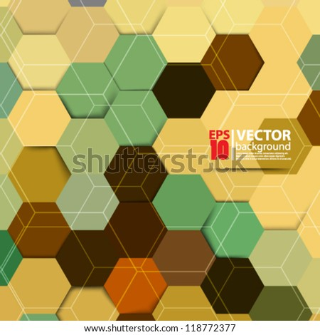 eps10 vector abstract geometrical background design - stock vector