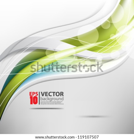 eps10 vector abstract green wave background - stock vector