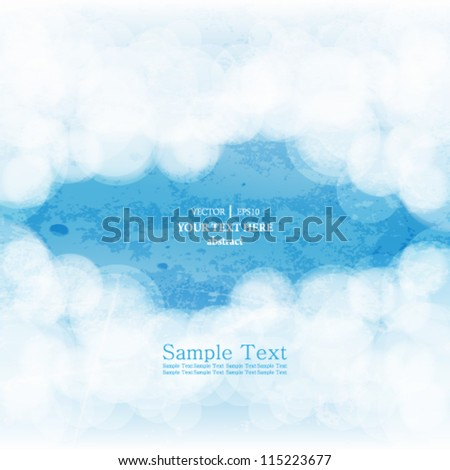 eps10 vector abstract grunge cloud background - stock vector