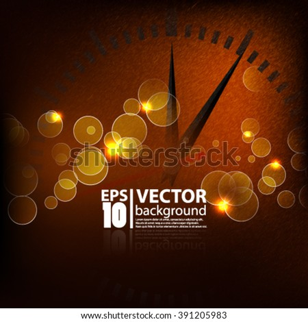 Eps10 vector abstract time concept textured background sparkle design - stock vector