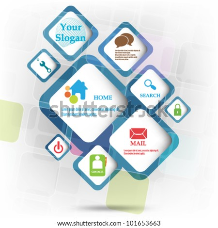 eps10 vector abstract web design - stock vector