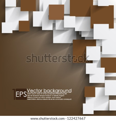 Eps10 Vector Background Overlapping  squares concept - stock vector