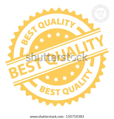 EPS10 Vector : Best Quality Rubber Stamp with Orange color (Sticker, Tag, Icon, Symbol) - stock vector