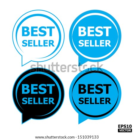 EPS10 Vector: Best seller tag, sticker,icon, label, stamp, sign, symbol. - stock vector