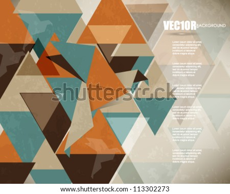 eps10 vector bird origami and triangles elements design - stock vector