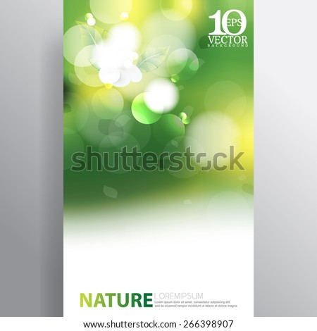 eps10 vector bokeh spring light flares nature background design - stock vector