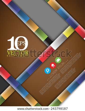 eps10 vector cartoon diagonal thick bar multicolored lines concept background design - stock vector