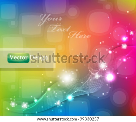 Eps10 Vector Colorful Abstract Modern Background Design - stock vector