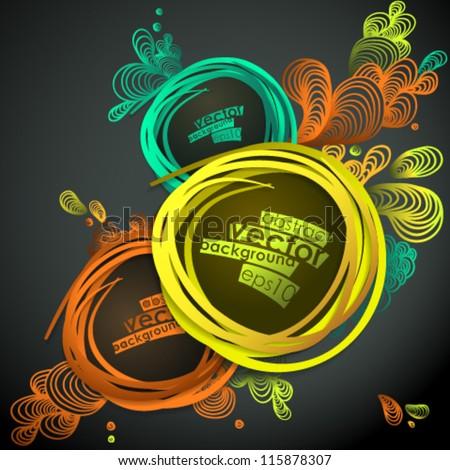 Eps10 Vector Colorful Design Background - stock vector
