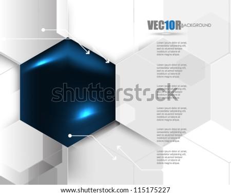 eps10 vector corporate hexagon background design - stock vector