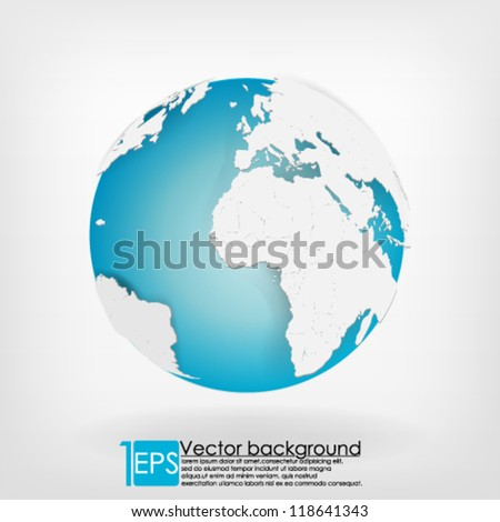 eps10 vector detailed  globe background - stock vector
