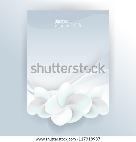 eps10 vector die-cut flower concept background - stock vector