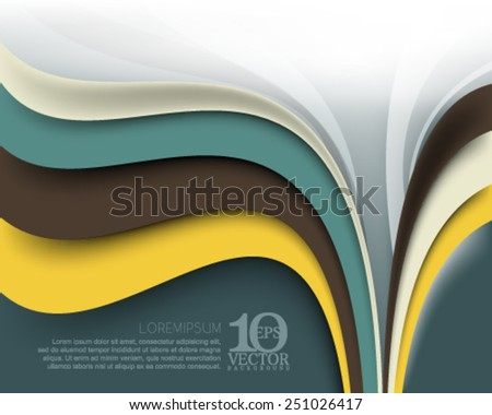 eps10 vector elegant multicolor business wave lines elements background illustration - stock vector