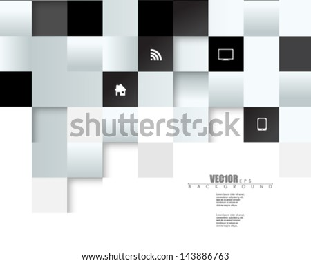 eps10 vector embossed metallic blocks design - stock vector
