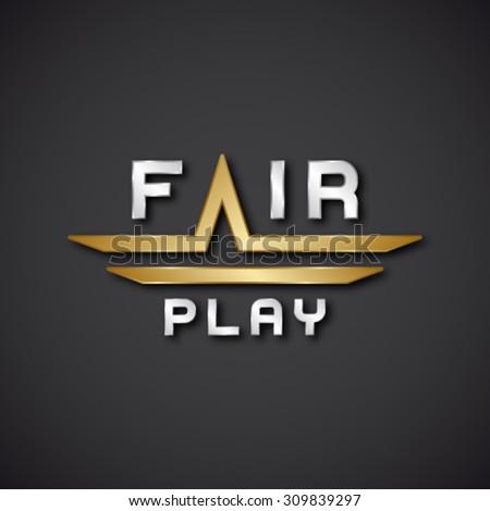 EPS10 vector fair play text icon - stock vector