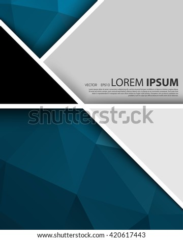 eps10 vector geometric annual report leaflet brochure blank space, abstract design template - stock vector