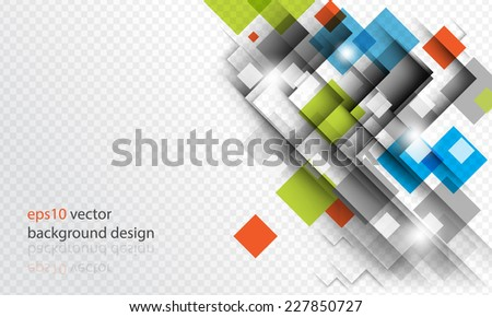 eps10 vector geometric overlapping square elements business background - stock vector